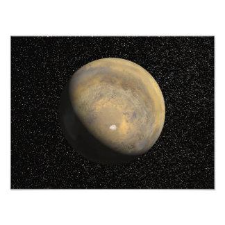Vista global de Marte Fotografía