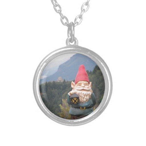 Vista Gnome Round Pendant Necklace