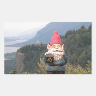 Vista Gnome Rectangular Sticker