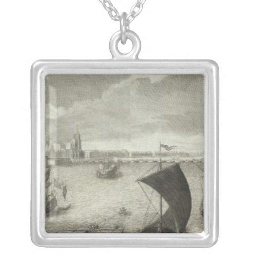 Vista grabada de St Petersburg 5 Collares Personalizados