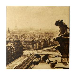 ¡Vista histórica de París, 1922, torre Eiffel! Azulejo Cuadrado Pequeño
