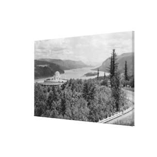 Vista House & Crown Point on Columbia River Canvas Print