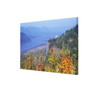 Vista House, high on Crown Point at the mouth Stretched Canvas Prints