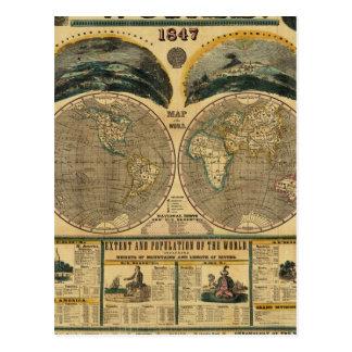 Vista ilustrada del mundo postal
