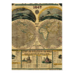 Vista ilustrada del mundo postales