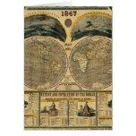 Vista ilustrada del mundo tarjeta de felicitación