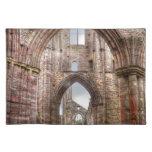 Vista interior de la abadía antigua País de Gales, Mantel Individual