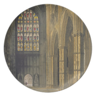 Vista interior de la abadía de Westminster que mir Platos Para Fiestas