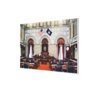 Vista interior de la cámara de senado del capitoli impresiones de lienzo