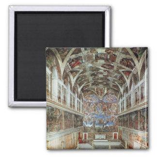 Vista interior de la capilla de Sistine Imán Cuadrado