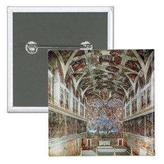 Vista interior de la capilla de Sistine Pin Cuadrado