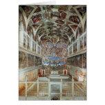 Vista interior de la capilla de Sistine Tarjeta De Felicitación