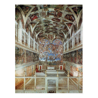 Vista interior de la capilla de Sistine Tarjetas Postales