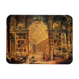 Vista interior de la galería de Colonna, Roma (ace Imán Rectangular