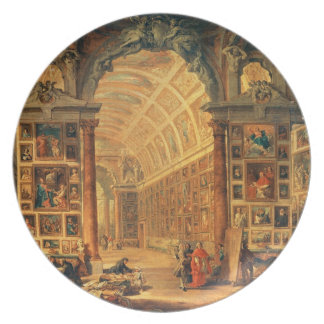 Vista interior de la galería de Colonna, Roma (ace Plato