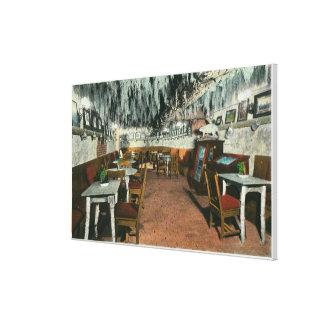 Vista interior de la parrilla de la cueva impresiones en lona