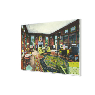 Vista interior de la sala de estar del FDR Lienzo Envuelto Para Galerías