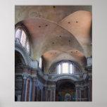Vista interior de los ángelus del degli de Santa M Póster