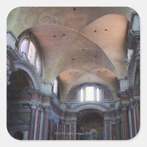 Vista interior de los ángelus del degli de Santa Pegatina Cuadrada