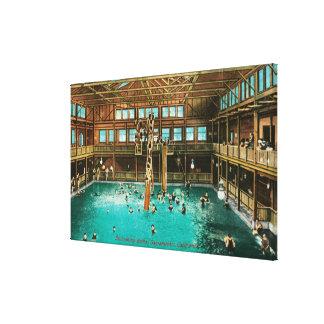 Vista interior de los baños de natación impresiones en lienzo estiradas