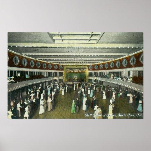 Vista interior del cuarto de bola del casino póster