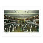 Vista interior del cuarto de bola del casino postales
