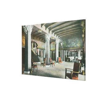 Vista interior del mesón de la sirena lienzo envuelto para galerias
