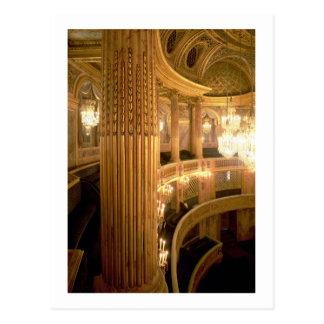 Vista interior del teatro de la ópera que mira hac postal