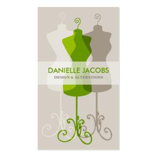 Vista la alteración de la forma y forme el verde tarjetas de visita