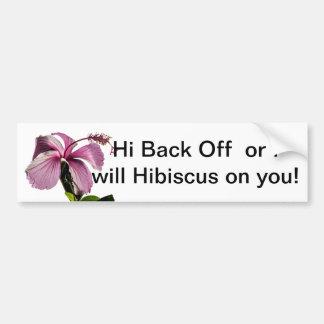 Vista lateral de la flor rosada del hibisco pegatina para auto
