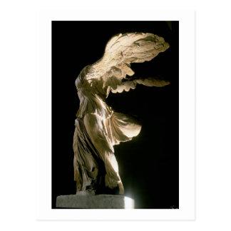 Vista lateral de la victoria de Samothrace (Parian Postales