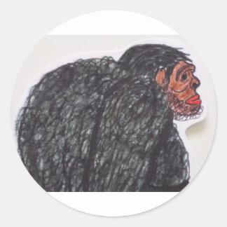 Vista lateral del busto de Blemmyes Etiquetas Redondas