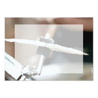"""Vista lateral del drumset painterly del platillo invitación 5"""" x 7"""""""