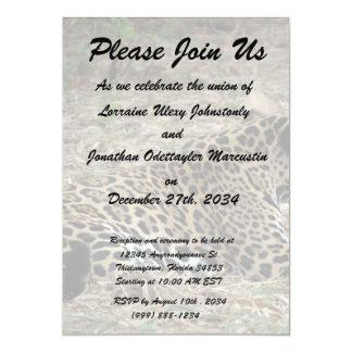 """vista lateral del gruñido del gato del jaguar invitación 5"""" x 7"""""""