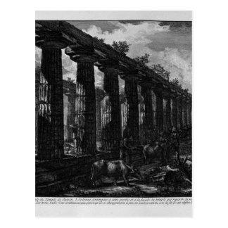 Vista lateral del templo de Juno Juan Battista Tarjeta Postal