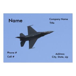 Vista lateral F-16 Tarjetas De Visita Grandes