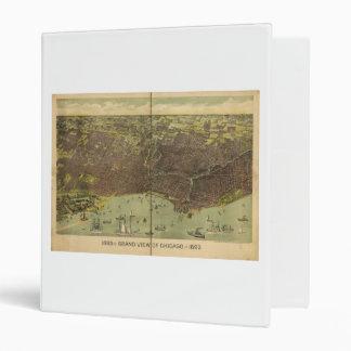 """Vista magnífica 1893 de Chicago Illinois Carpeta 1"""""""