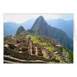 Vista majestuosa de Macchu Picchu Tarjetón