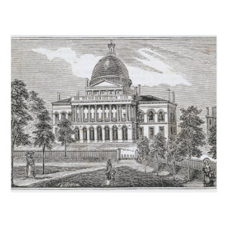 Vista meridional de la casa del estado en Boston Tarjeta Postal