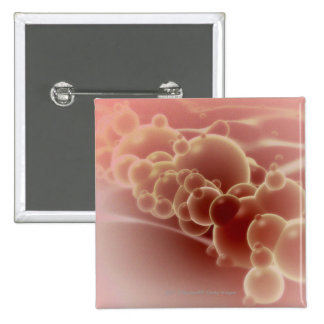 Vista microscópica de las microesferas del látex pin