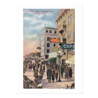 "Vista occidental de la ""promenade"" tarjeta postal"