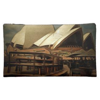 Vista oscura del teatro de la ópera de Sydney