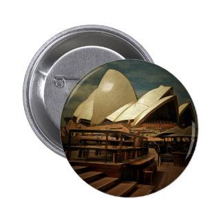 Vista oscura del teatro de la ópera de Sydney Pin Redondo 5 Cm