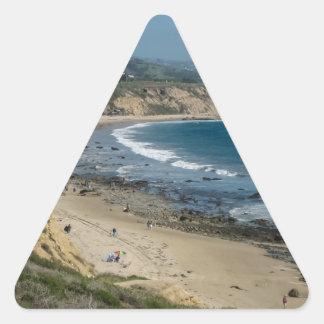Vista pacífica pegatina triangular