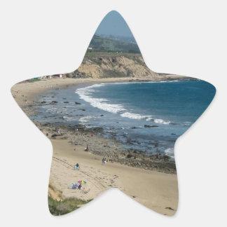 Vista pacífica pegatina en forma de estrella