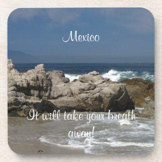 Vista pacífica; Recuerdo de México Posavaso