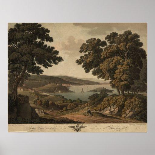 Vista panorámica 1801 de la C.C. de Washington Impresiones