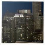 Vista panorámica aérea de edificios en Chicago Azulejos Ceramicos