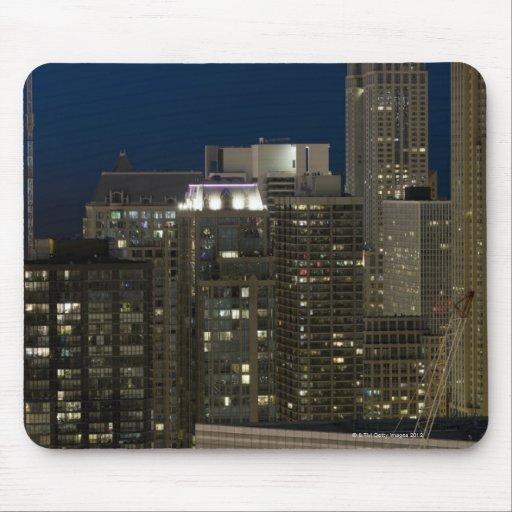 Vista panorámica aérea de edificios en Chicago Tapete De Raton