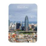 Vista panorámica de Barcelona en día de primavera  Iman Flexible